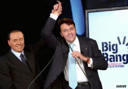 Grazie a Berlu, Renzi vola nei sondaggi