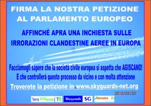 Skyguards Cartolina Petizione ITA - D.12