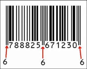 codice a barre 666