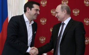 Russian President Vladimir Putin Meets Greek PM Alexis Tsipras In Moscow's Kremlin