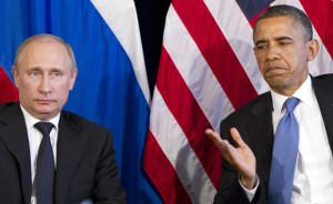 President Barack Obama participates in a bilateral meeting with Russiaís President Vladimir Putin during the G20 Summit, Monday, June 18, 2012, in Los Cabos, Mexico. (AP Photo/Carolyn Kaster)